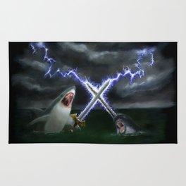 Shark vs. Narwhal  Rug