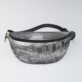 Glory Days - An Abandoned House and Storm in Kansas Fanny Pack