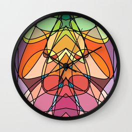 Abstract Curves #3 - Crowned Bug Wall Clock