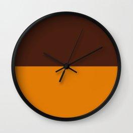 Choc Caramel Wall Clock