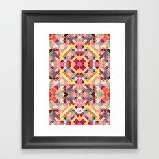 out square Framed Art Print