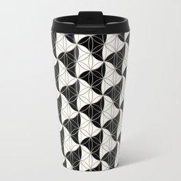 Trinity Pattern Black White Travel Mug