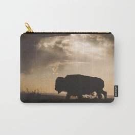 Bison in the Storm - Badlands National Park Carry-All Pouch