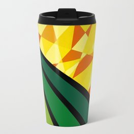 """Daffodil"" *The Nature Series* Montana Gold Spray Paint on Birch Panel 16″ x 16″ x 2"" Travel Mug"