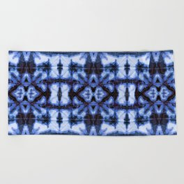 Blue Oxford Shibori Beach Towel
