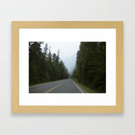 Misty Mountain Road Framed Art Print