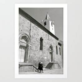 Italy in Black and White Art Print