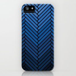 Parquet All Day - Black & Chambray iPhone Case