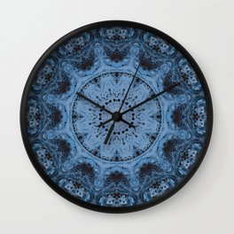 Dancing Ice Crystals Wall Clock