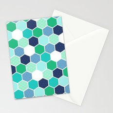 Galactic Hexagons 1 Stationery Cards