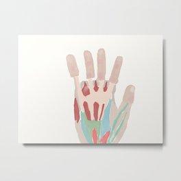 Biomedical hand Metal Print