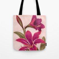 vintage floral Tote Bags featuring Vintage Floral by 83 Oranges™