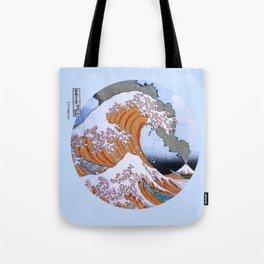 Great Wave off Kanagawa Mt Fuji Eruption Tote Bag