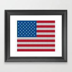American Flag - knitted Framed Art Print