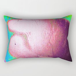 Yellow Neon Abstract Collection Rectangular Pillow