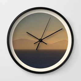 Lost In The Haze Wall Clock