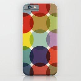 Retro Colored Dots iPhone Case