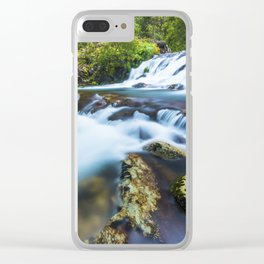 High motion waterfall Clear iPhone Case