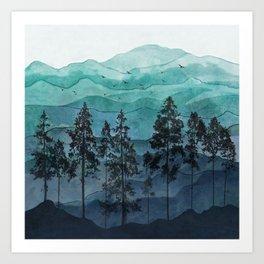 Mountains II Art Print