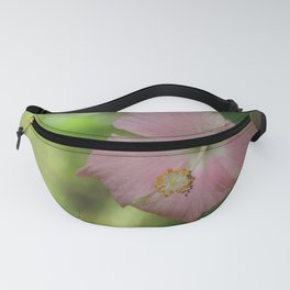 Pink hibiscus flower closeup Fanny Pack
