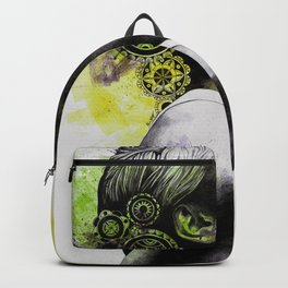 Burnt By The Sun | mandala woman portrait Backpack