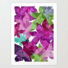 Geometric Floral I Art Print