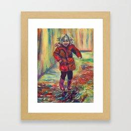 It's raining, its pouring Framed Art Print