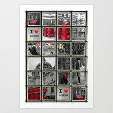 I love London Collage Art Print