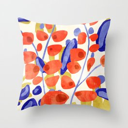All Good Things Are Wild & Free #painting Throw Pillow