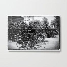 Utrecht Train Station Parking Metal Print