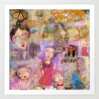 klimt Art Prints featuring Klimt by sara aguiar