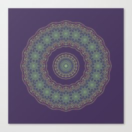 Lotus Mandala in Dark Purple Canvas Print