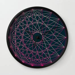 Red Threads in Blue Wall Clock