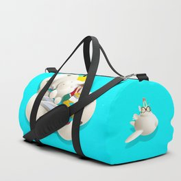 Time bunny girl and clouds Duffle Bag