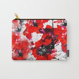 Flaming Poppies Carry-All Pouch