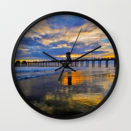 Labor Day 2013 ~ Sunset HB Pier        Wall Clock