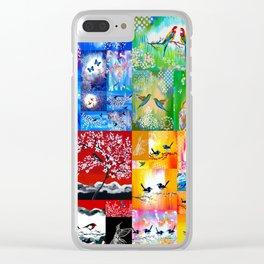 Rainbow Colors Clear iPhone Case