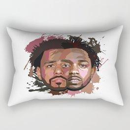Kendrick Lamar + J Cole Rectangular Pillow