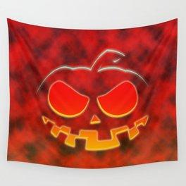 Screaming Pumpkin Wall Tapestry