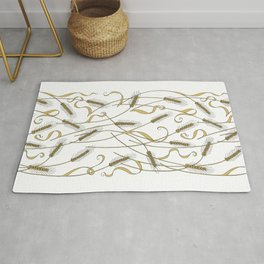 Art Nouveau - Scattered Wheat Rug