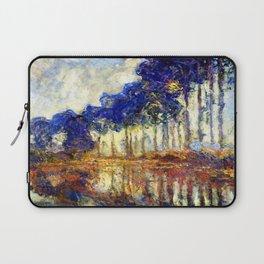 Monet : Poplars on the Banks of the River Epte, 1891 Laptop Sleeve