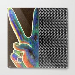 Peace Sign and Symbol Metal Print