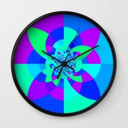 Orchid Aqua Turquoise Kaleidoscope Wall Clock