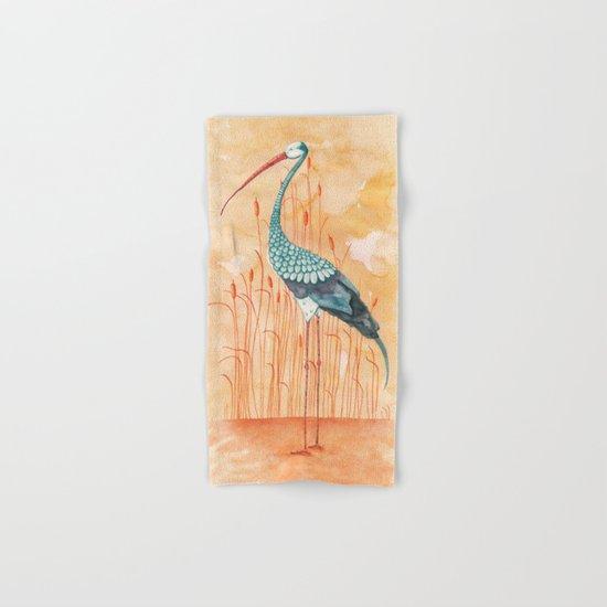 An Exotic Stork Hand & Bath Towel