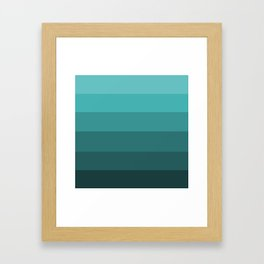 Winter Dark Teal - Color Therapy Framed Art Print