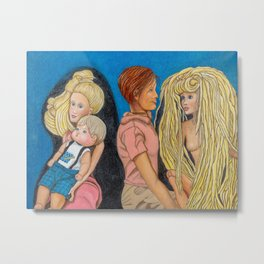 Side Chicks Metal Print
