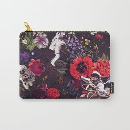 Flowers and Astronauts Carry-All Pouch