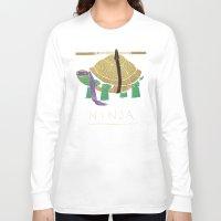 ninja turtle Long Sleeve T-shirts featuring ninja - purple by Louis Roskosch