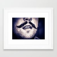 moustache Framed Art Prints featuring Moustache  by Larry Bierce