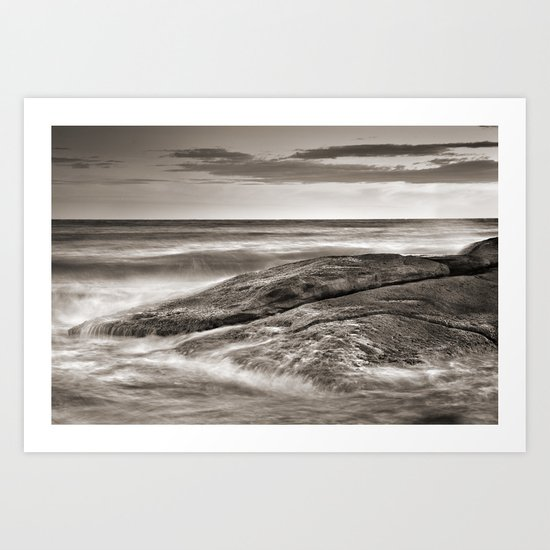 the force of the sea Art Print
